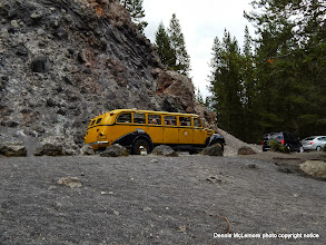 Photo: One of the Yellowstone tour buses