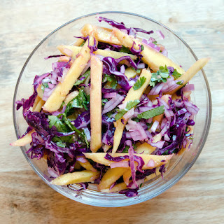Ginger Lime Mango Slaw