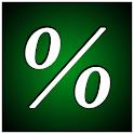 percentage math fun icon