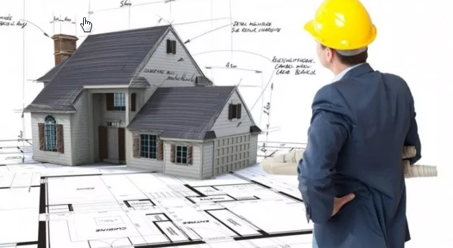 Structural Engineer looking at a house