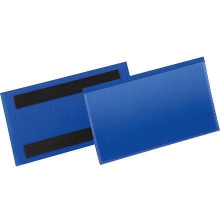 Etiketthåll. mag. 150x67mm blå