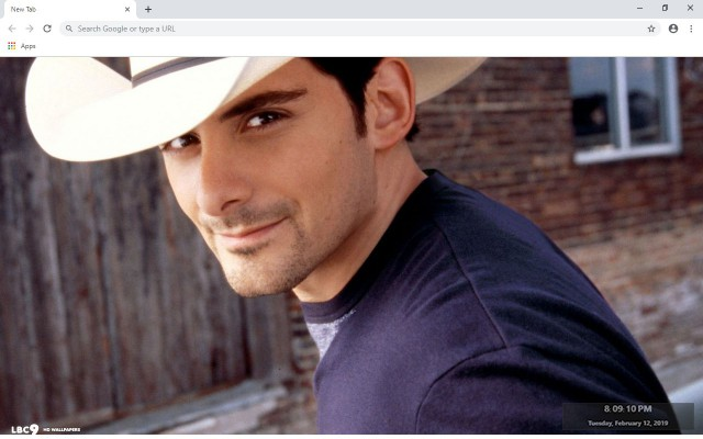 Brad Paisley New Tab & Wallpapers Collection
