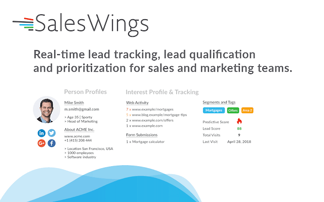 SalesWings Lead Website Tracking for Gmail