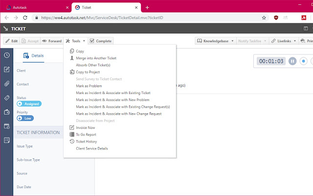Autotask - Only with tabs.