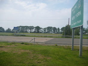 Photo: road gets really shoddy when you cross into Pennsylvania