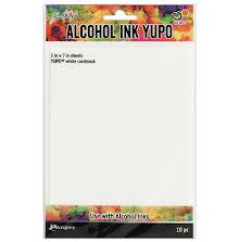 Tim Holtz Alcohol Ink Yupo Paper 10 Sheets - White CS 5X7
