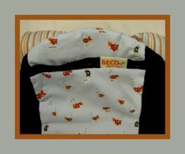 "Photo: ""Fishies"" Customized Black Beco Butterfly II custom ""Stripes"" Drool Pads"