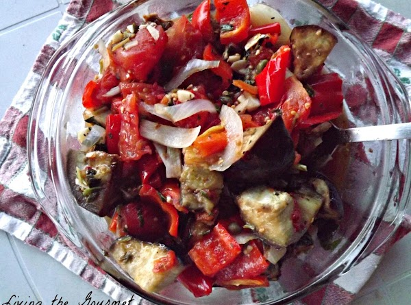 Oven Roasted Peppers And Eggplant Recipe