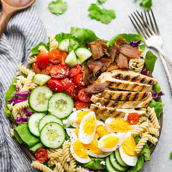 Balsamic Chicken Cobb Salad with Pasta Recipe