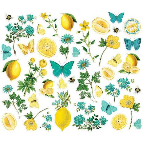 Simple Stories Bits & Pieces Die-Cuts 41/Pkg - SV Lemon Twist Floral