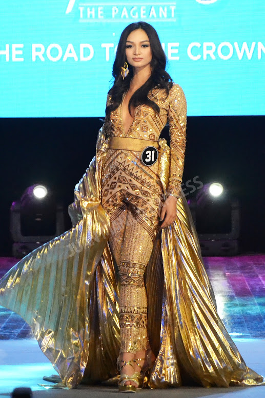 BB. PILIPINAS 2016 CANDIDATE NO. 31 KYLIE VERZOSADRESSED BY RAJO LAUREL FOR THE NATIONAL COSTUME COMPETITION