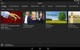 Screenshot of BBC iPlayer Radio