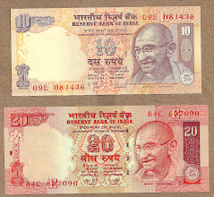 Photo: The nicest rupee notes i ever saw...i had to smuggle them out!