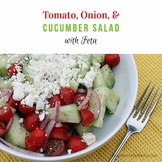 Tomato, Onion, and Cucumber Salad with Feta
