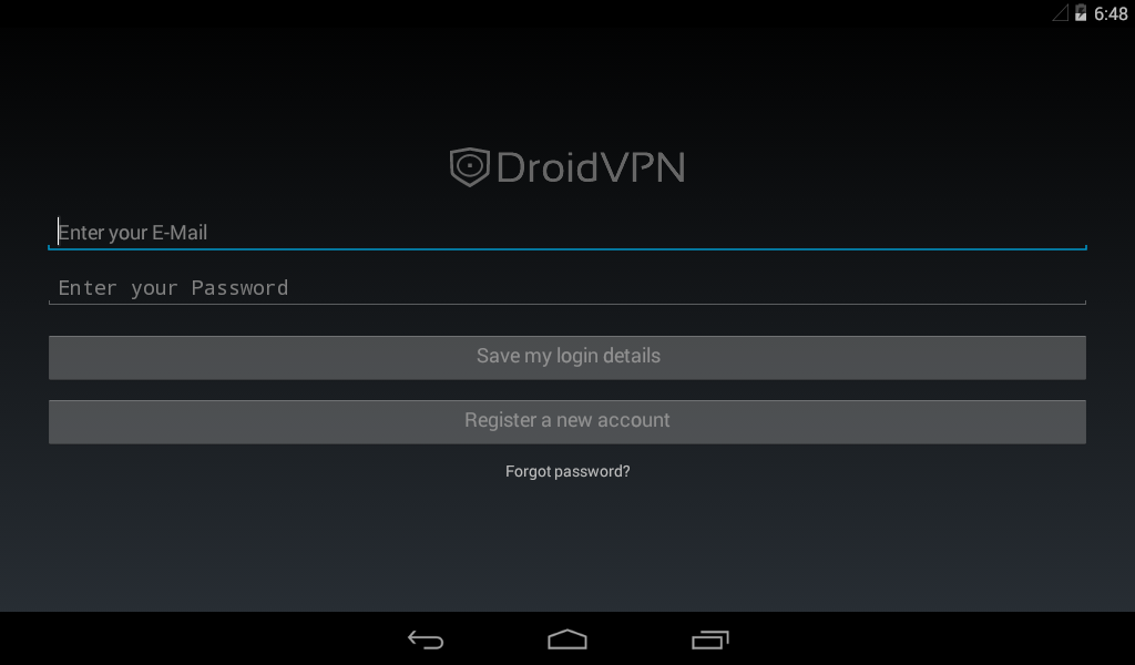 DroidVPN - Android VPN: captura de pantalla