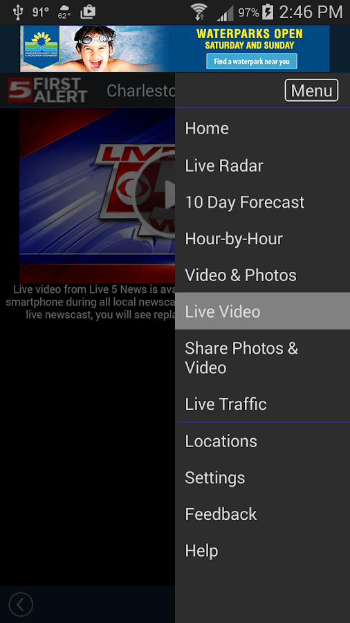 WCSC Live 5 Weather- screenshot