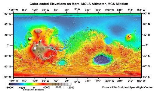 火星高清晰地形图