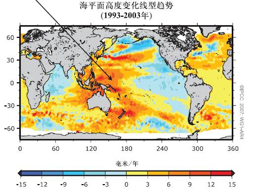 海平面变化趋势图