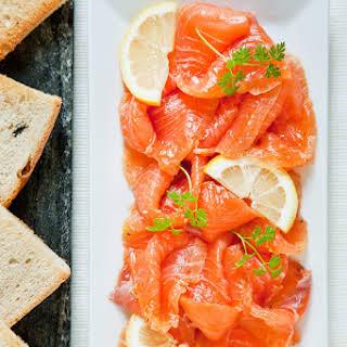 Salmon Gravlax.