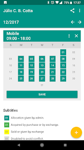 Schedule App - náhled