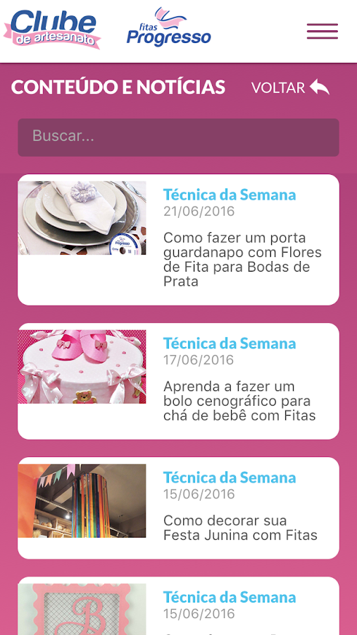 Clube de Artesanato- screenshot