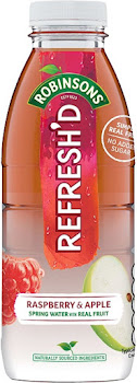 Robinsons Refresh'd Spring Water With Real Fruit - 500ml, Raspberry And Apple