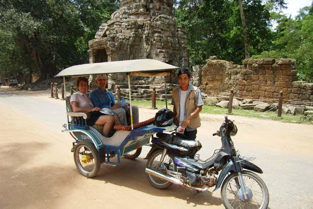 Tuk tuk ride in Siem Reap