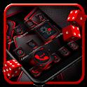 Dark HD Red Black Launcher Theme icon