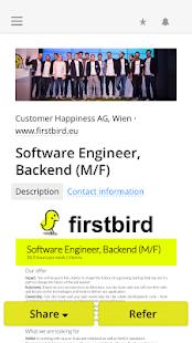 Firstbird2Go - náhled