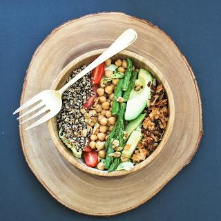 Vegan Cobb Salad with Green Tahini Dressing.
