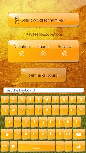 短信 键盘 金 颜色