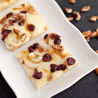 Cranberry Pecan and Brie Flatbread with a Maple Brown Sugar Glaze