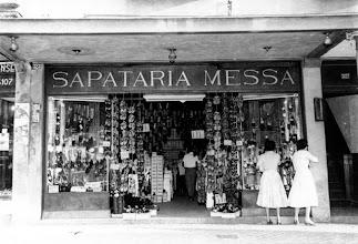 Photo: Sapataria Messa. Localizava-se na Rua do Imperador. Foto da década de 50