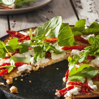Chickpea and Arugula 'Pizza'