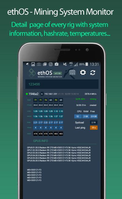 ethOS - Mining System Monitor