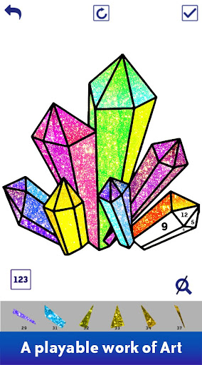 Poly Art Glitter: Color by Number, Coloring Puzzle - screenshot