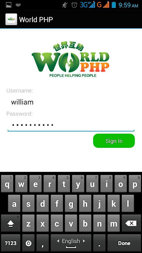 World PHP Mobile App