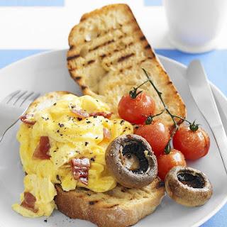 Parmesan and Pancetta Scrambled Eggs.