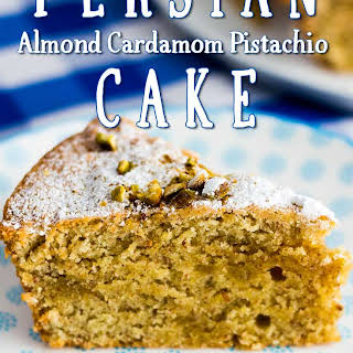 Persian Almond Cardamom Pistachio Cake.
