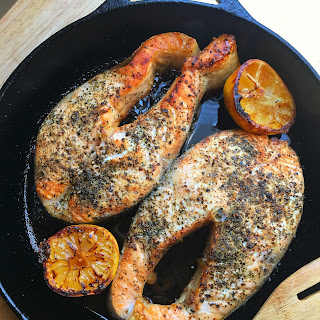 Lemon Pepper Salmon.