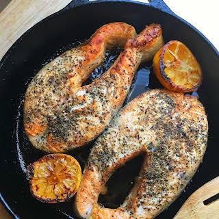 Lemon Pepper Salmon.