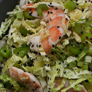 Savoy Cabbage Shrimp Salad.