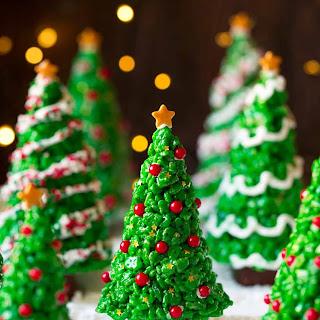 Christmas Tree Rice Krispies Treats.
