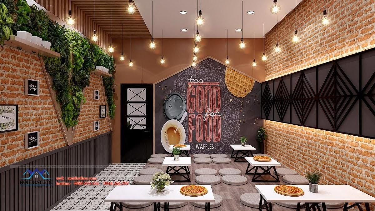 thiết kế cửa hàng pizza bau's 21