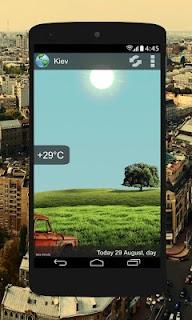 Animated Weather Widget, Clock screenshot 02