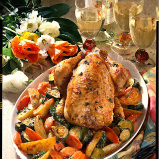 Thyme-Roasted Chicken and Vegetables.