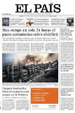 Photo: En la portada de EL PAÍS del jueves 4 de octubre: Mas rompe en solo 24 horas el pacto autonómico sobre el déficit; Turquía bombardea Siria en respuesta a un ataque en la frontera; Bruselas se queda sin fondos para pagar la beca Erasmus. http://srv00.epimg.net/pdf/elpais/1aPagina/2012/10/ep-20121004.pdf