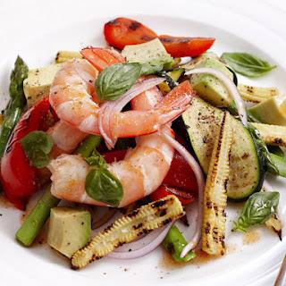 Grilled Vegetable and Shrimp Salad.
