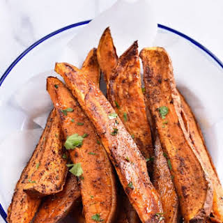 Roasted Sweet Potato Wedges.