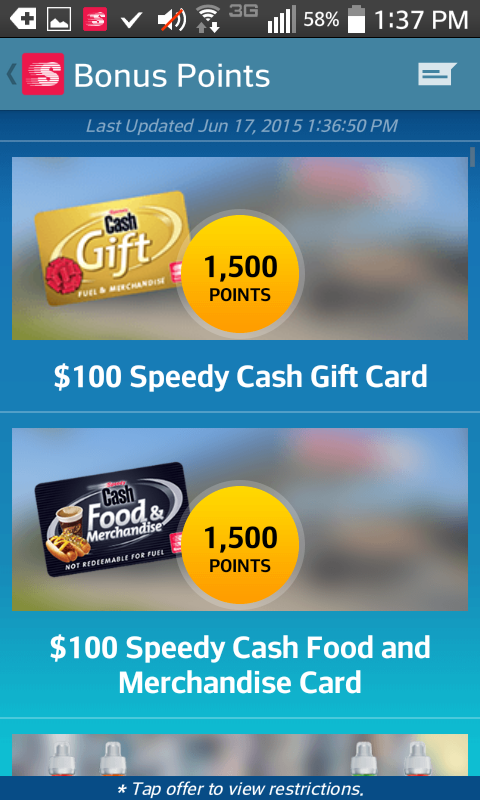 Speedway Fuel & Speedy Rewards- screenshot